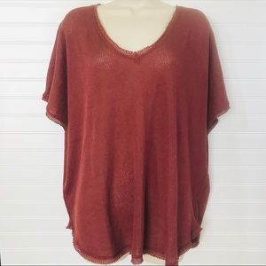 Urban Outfitters Raw Edge Oversized SS Top NWT